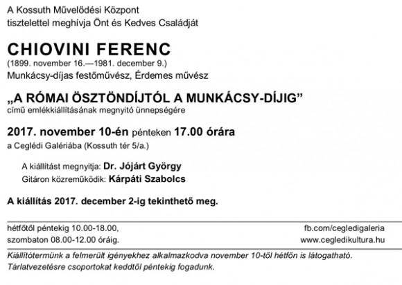 CHIOVINI FERENC: