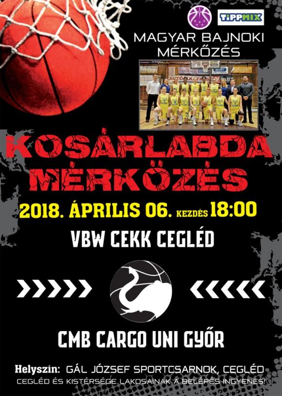 VBW CEKK CEGLÉD - CMB CARGO UNI GYŐR 2018.04.06.