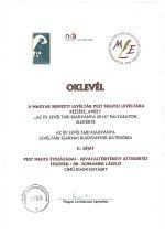 Elismerő díjat kapott a kiadványunk!