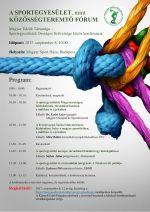 A sportegyesület, mint közösségteremtő fórum - konferencia